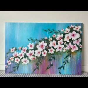 Flowers acrylic painting